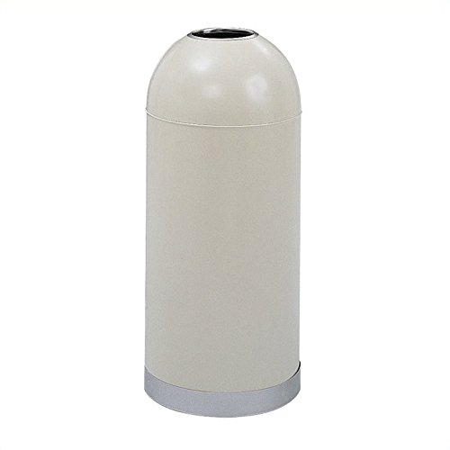 Safco Products 9639PT Open Top Dome Waste Receptacle, 15-Gallon, (Waste Receptacle Unit)