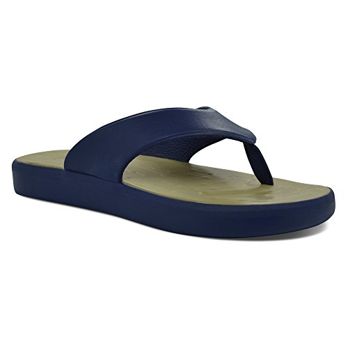 SoftScience Mens Skiff EVA Flip Flop Dark Blue / Khaki YOy76g