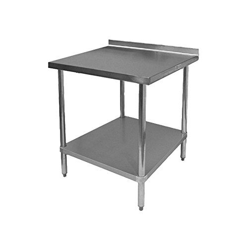 GSW Commercial Work Table with Stainless Steel Top, 1 Galvanized Undershelf, 1-1/2