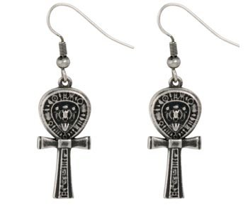Ebros Gift Design Doranne Ancient Egyptian Ankh Earrings Lead Free Pewter Jewelry Accessory