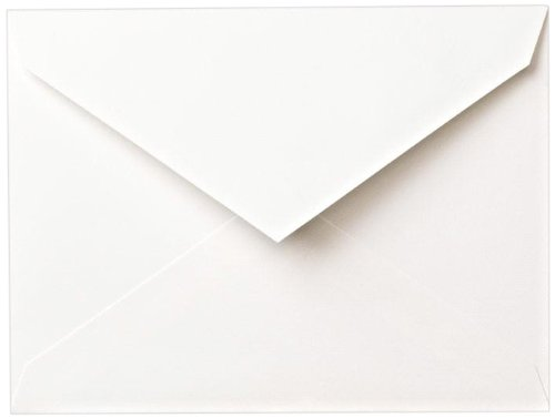 Crane & Co. Pearl White Kid Finish Embassy Envelope (AE9111) ()
