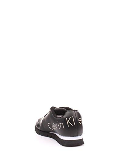 39 Klein Liscia Nabuk Sneaker Gomma Black Homme Calvin AXd0x6qX