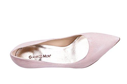 Zapatos Decoltè Gracie Cipria ante Mujer Mori en piel auténtica Gianrico vZawtzW