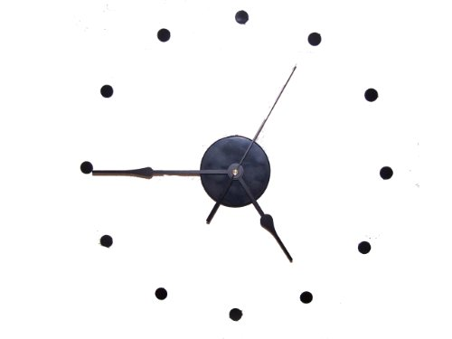 Large Wall Clock Kit Continuous Sweep Movement 9'' Hands/ 6.9'' Second DIY silent by Southeastern Clocks