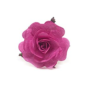 "2"" Pink Paper Flowers Paper Rose Artificial Flowers Fake Flowers Artificial Roses Paper Craft Flowers Paper Rose Flower Mulberry Paper Flowers 10 Pieces 77"