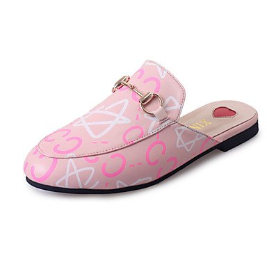 LvYuan Tacón Plano-Confort-Sandalias-Informal-PU-Negro Rosa Pink