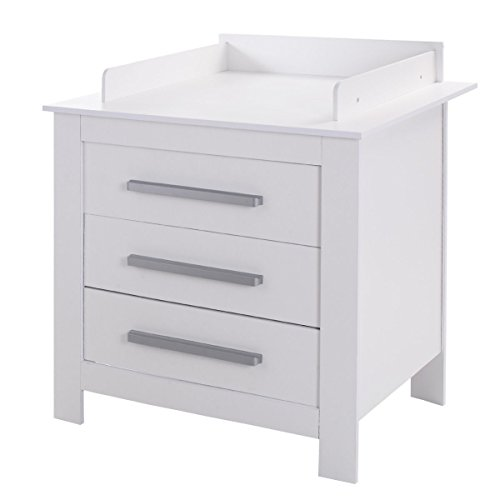 Costzon White Changing Table Dresser Baby Room Nursery Furniture Diaper Station 3 Drawer by Costzon (Image #1)