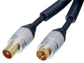 HQ HQSS5015 - Cable coaxial de 5 metros, negro
