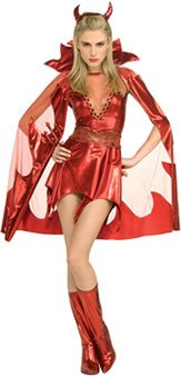 Secret Wishes Women's Devilish Delight Adult Costume, Red, Small