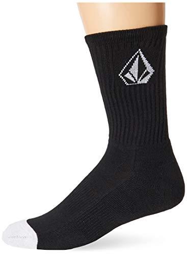 Volcom Men's Full Stone Sock 3-Pack, BLACK, 3 PACK