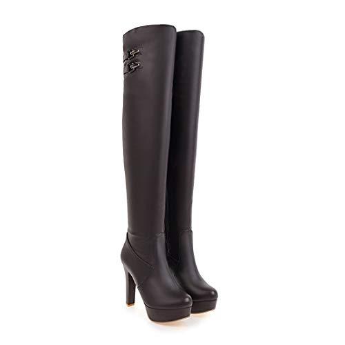 Uniti Moda Stivali Di Alta Sopra Impermeabile Ginocchio Brown Con Europa In Delle Negli gli E piattaforma Stati Alto Il Donne Tacco nxnOBP