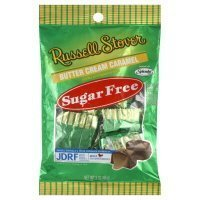Russell Stover, Sugar Free, Butter Cream Caramel Candy, 3oz Bag (Pack of 4) by Russell Stover (Free Nutrition Sugar Stover Russell)