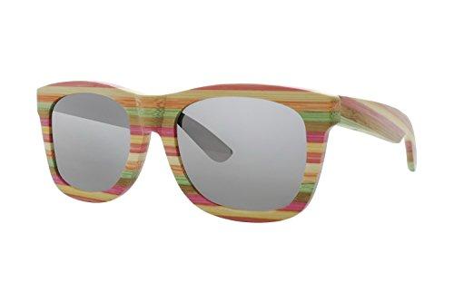 Delray Glass - Earth Wood Women's ESG016SM Delray Sunglasses, Multi