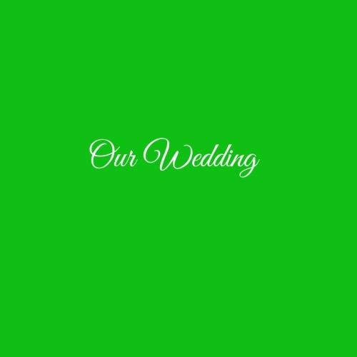 Libro De Visitas Our Wedding para bodas decoracion accesorios ideas regalos matrimonio eventos firmas fiesta hogar invitados boda 21 x 21 cm Cubierta Verde ...