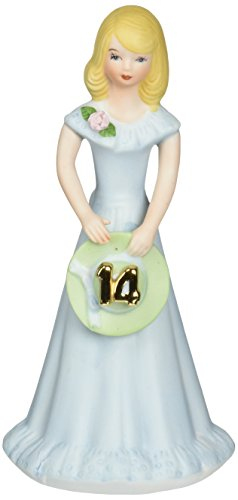 "Enesco Growing Up Girls ""Blonde Age 14"" Porcelain Figurine, 6.5"""