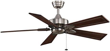 CASA BRUNO ventilador de techo Windpointe, estaño cromado con ...