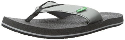Sanuk Kids Root Beer Cozy Flip Flop (Toddler/Little Kid/Big Kid), Grey, 13/1 M US Little Kid (Flops Flip 1)