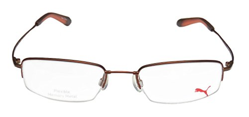 Puma 15367 Explorer Iii Mens/Womens Designer Half-rim Eyeglasses/Eyeglass Frame (51-19-145, Copper / (Ranger Adult Accessory Kit)