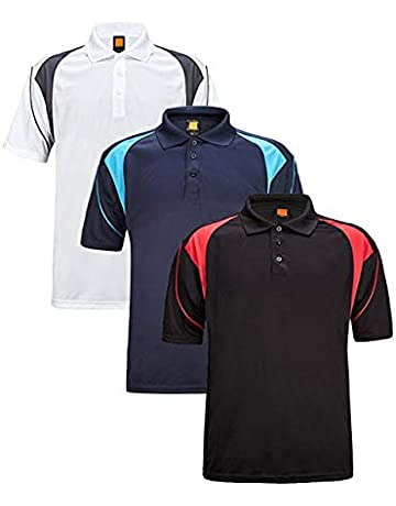 cb989c1498f ZITY Men s Polo Shirt Cool Quick-Dry Sweat-Wicking Color Block Short Sleeve  Sports