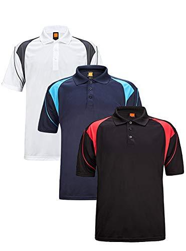 ZITY Dri Fit Shirt Quick-Dry Sweat-Wicking Sports Golf Tennis T-Shirt, Black,Navy,White, X-Large ...