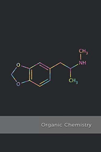 Organic Chemistry: MDMA Molecule science composition notebook  | 1/4 inch Hexagonal Graph Paper Notebook for psychonauts