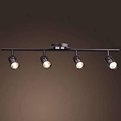 CLAXY® Ecopower Vintage Oil Rubbed Bronze Metal Track Lighting Ceiling Light Fixture