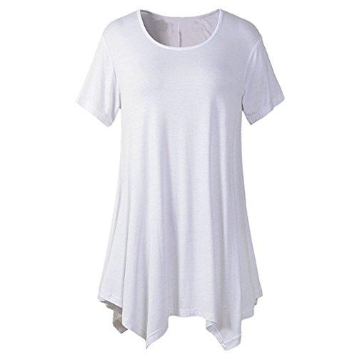 Starto Women's Extra Long Tunics Short Sleeve Plus Size