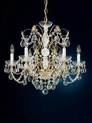 Schonbek 1592-20H Swarovski Lighting Madison Chandelier, Gold