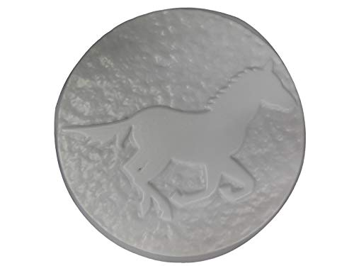 Round 16in Horse Stepping Stone Concrete or Plaster Mold 1122