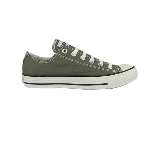 SV–auténtica Plimsolls Classic CONVERSE OX LO Top Unisex con Cordones), color gris oscuro gris - Charcoal