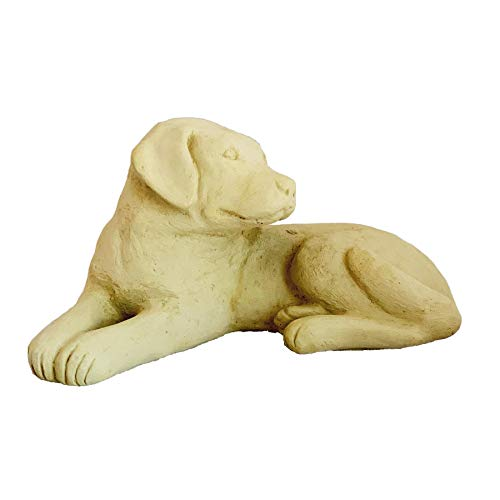 - Designer Stone Labrador Puppy Statue - Solid Cast Stone Dog, Sealed for Outdoor Use