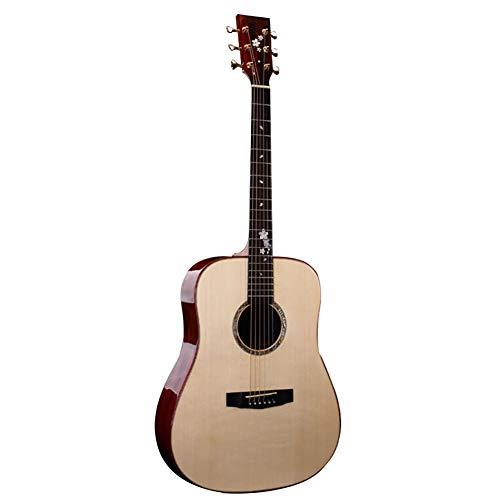 NUYI Spruce Coco Pineapple Acoustic Guitar Veneer Falling Sakula Beginners Getting Started Student Guitar,D