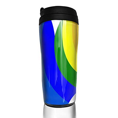 Coffee Mug Rainbow Love Heart Travel Tumbler Insulated Leak Proof Drink Containers Holder Hot 12 Ounces