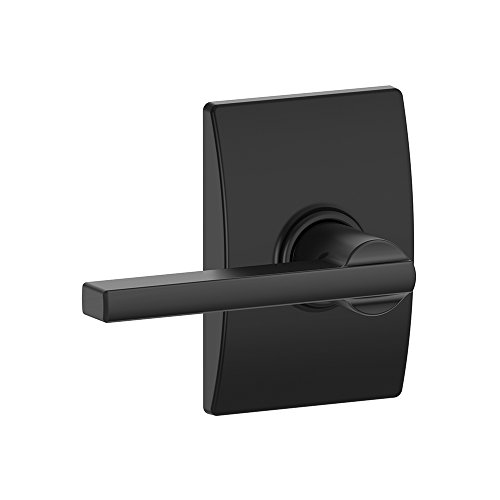 Schlage F10 LAT 622 CEN Century Collection Latitude Passage Lock Lever, Matte Black ()