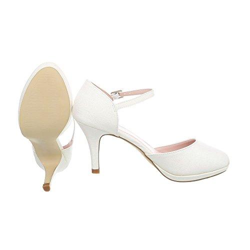 Scarpe Col Cinturino 20 Crème 5015 Donna design Tacco A Spillo Con Ital Da IwO57B