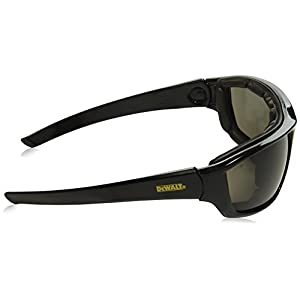 DeWalt DPG83-21 Converter Safety Glasses/Goggles - Black Frame - Smoke Anti-Fog Lens
