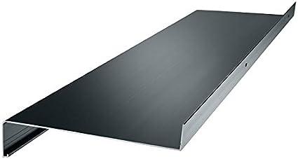 silber Aluminium Fensterbank Zuschnitt auf Ma/ß Fensterbrett Ausladung 165 mm wei/ß dunkelbronze anthrazit