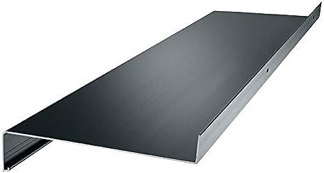 dunkelbronze Aluminium Fensterbank Zuschnitt auf Ma/ß Fensterbrett Ausladung 165 mm wei/ß anthrazit silber