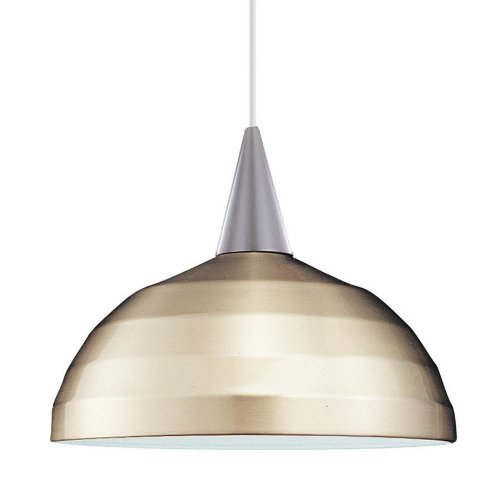 WAC Lighting PLD-F4-404BN/BN Felis 1-Light MonoPoint Pendant with Brushed Nickel Shade and Brushed Nickel Finish