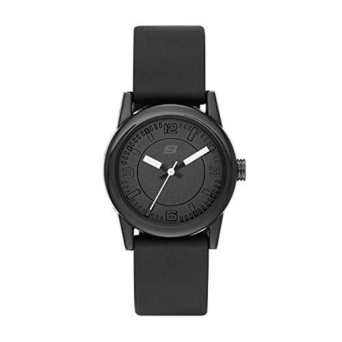 Skechers Women's Rosencrans Mini Quartz Plastic and Silicone Casual Watch Color: Black (Model: ()