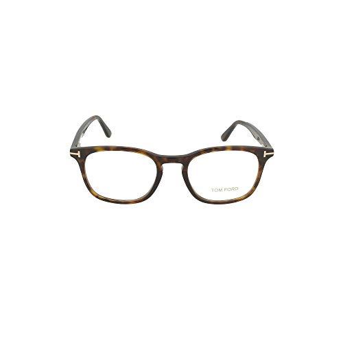 Tom Ford FT 5505 052 Dark Havana Plastic Square Eyeglasses 52mm