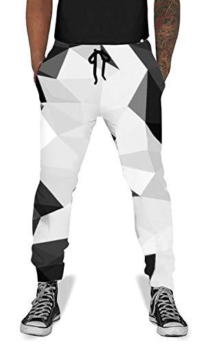 Men Women Print Diamond Jogging Pants Casual Graphric Sweatpants Trousers with Pockets Black (Anime Jeans Men)