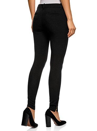 oodji 2900n Donna Stretti Collection Nero Zip con Pantaloni qxZrCnwOBq