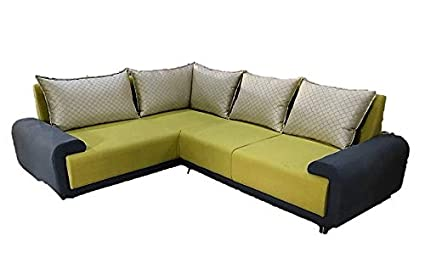 Iconic Furniture Five Seater Sofa Set (15 Feets) (Green ...