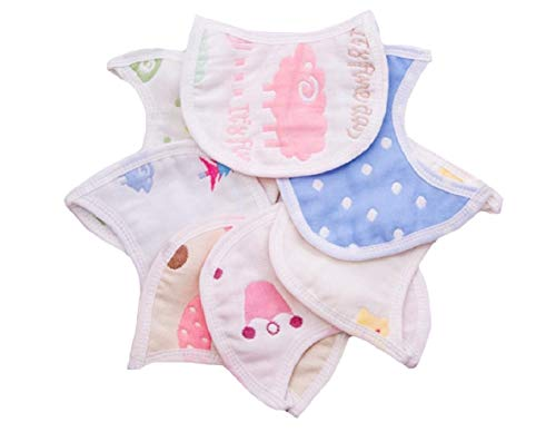 YUSKY Baby Toddler Kid 100% Cotton Burp Cloths Drool Teething 10 Pack Bibs 1 OS