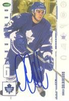 Original 6 Card Autographed - Carlo Colaiacovo Toronto Maple Leafs 2003 In The Game Original 6 Autographed Card. This item comes with a certificate of authenticity from Autograph-Sports. Autographed