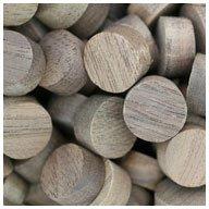 WIDGETCO 1/2' Walnut Wood Plugs, Face Grain