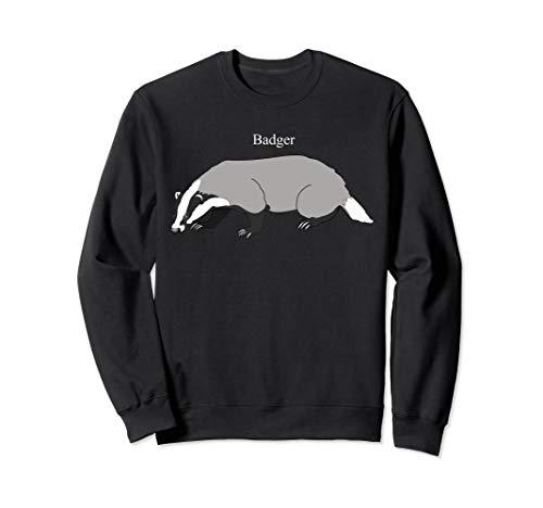 Badger Art Sweatshirt Novelty Animal Illustration