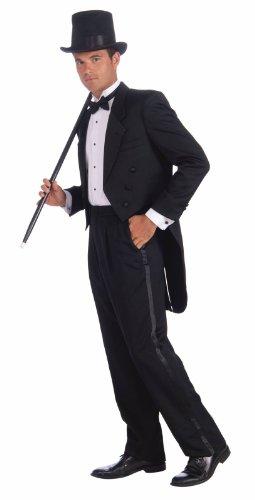 [Forum Vintage Hollywood Tuxedo Tail Coat, Black, One Size Costume] (Vintage Hollywood Man's Tuxedo Adult Costumes)