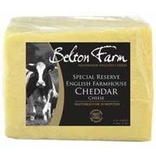 Belton Farm Special Reserve English Farmhouse Mature Cheddar Cheese, 5 Pound -- 2 per case. (Mature Cheddar Cheese)